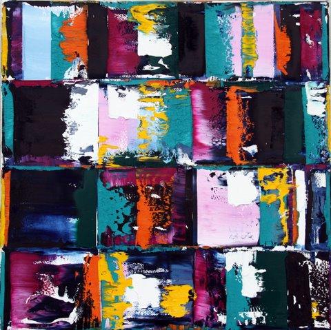 Nuit / L'univers - 100 x 100 cm