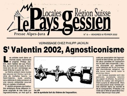 article de presse paru le 8 février 2002 dans Le Pays Gessien