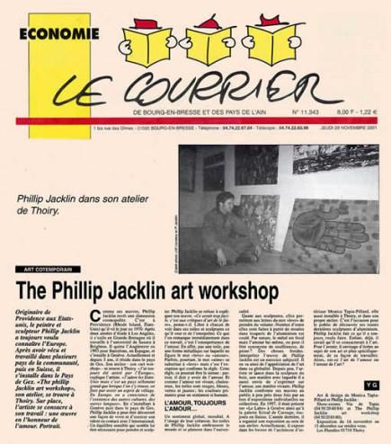 Article de presse paru dans le 14 novembre novembre 2001 dans Le Courrier