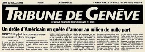 Article de presse paru dans le 12 juillet 2011 dans la tribune de Genève
