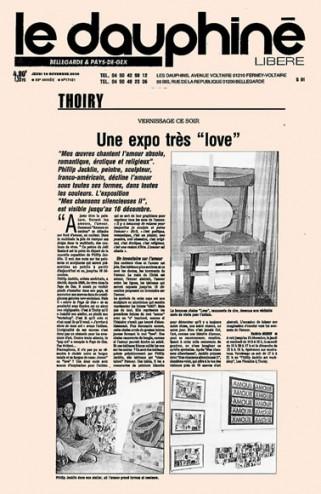 Article de presse paru dans le 16 novembre 2000 dans le Dauphiné Libéré