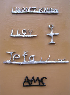 L'Amour de l'humanité - Sculpture miniature en plomb et étain coulé