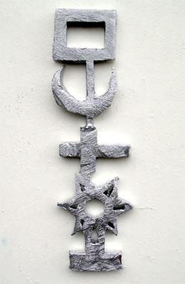 Lumière Agnosticôniste - Sculpture miniature en plomb et étain coulé