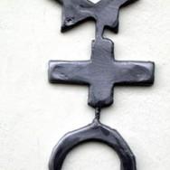 Bouche - Sculpture miniature en plomb et étain coulé