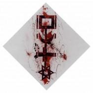 En tournant la clé (sang de l'artiste) - Huile et sang de l'Artiste sur toile - 100 x 100 cm