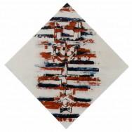 En tournant la clé (bleu, blanc, rouge) - 100 x 100 cm