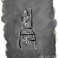 Chaise noir - 50 x 70 cm