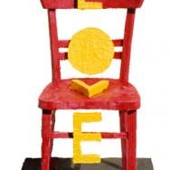 Chaise - Encaustique sur bois - 186 x 62 x 70 cm