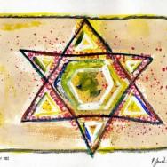 Étoile de David - 21 x 29,8 cm