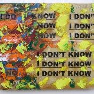 I DON'T KNOW, 50 X 40 cm